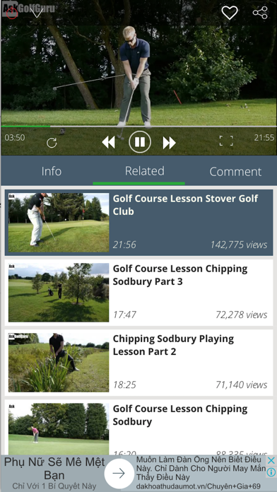 Golf tutorial and highlight - learning, practice screenshot two