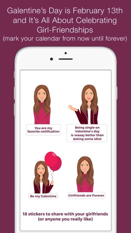 Valentine's/Galentine's Day girl-talk stickers (K)