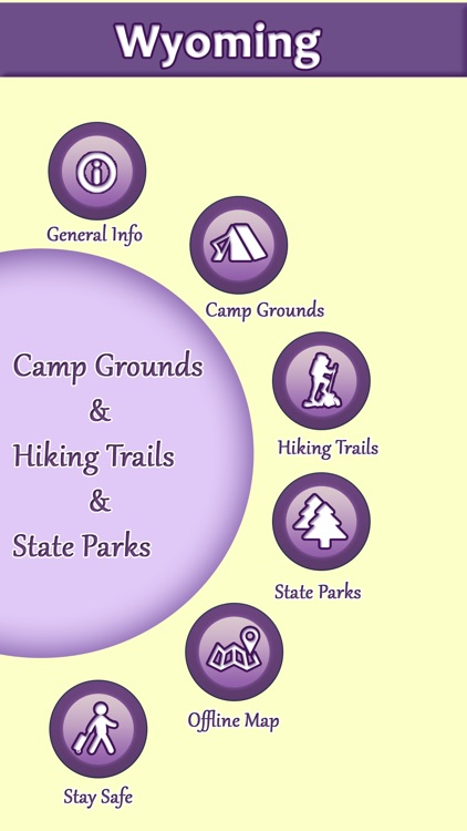 Wyoming Camping & Hiking Trails,State Parks screenshot-0
