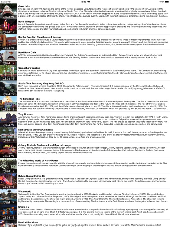 MotorCo Guide for Universal Hollywood - for iPad