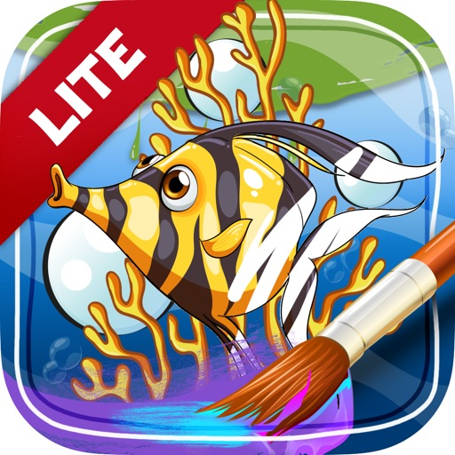 Painting & Coloring Pictures Sea Animals for Kids iOS App