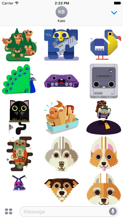 Geo Critters - Redbubble sticker pack