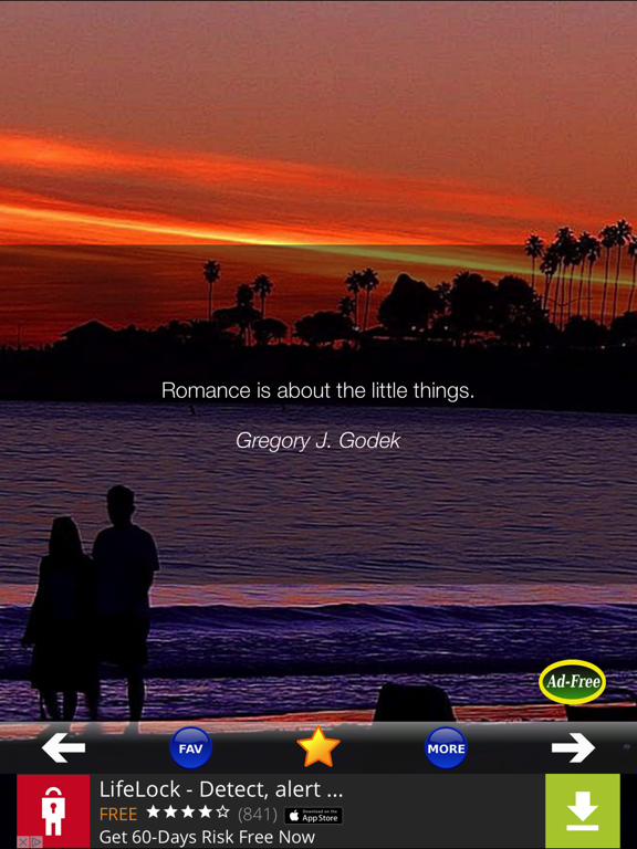 Daily Love Quotes App for the Romantic Couple Relationship screenshot