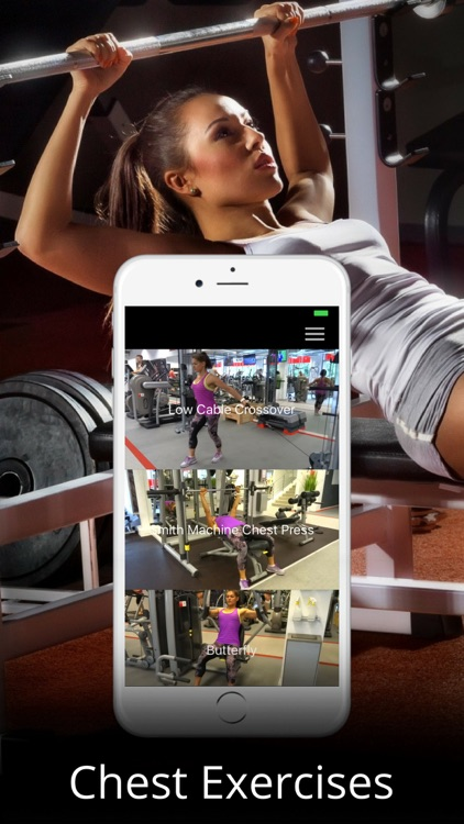 Chest Workout Trainer Fitness Exercises Routine