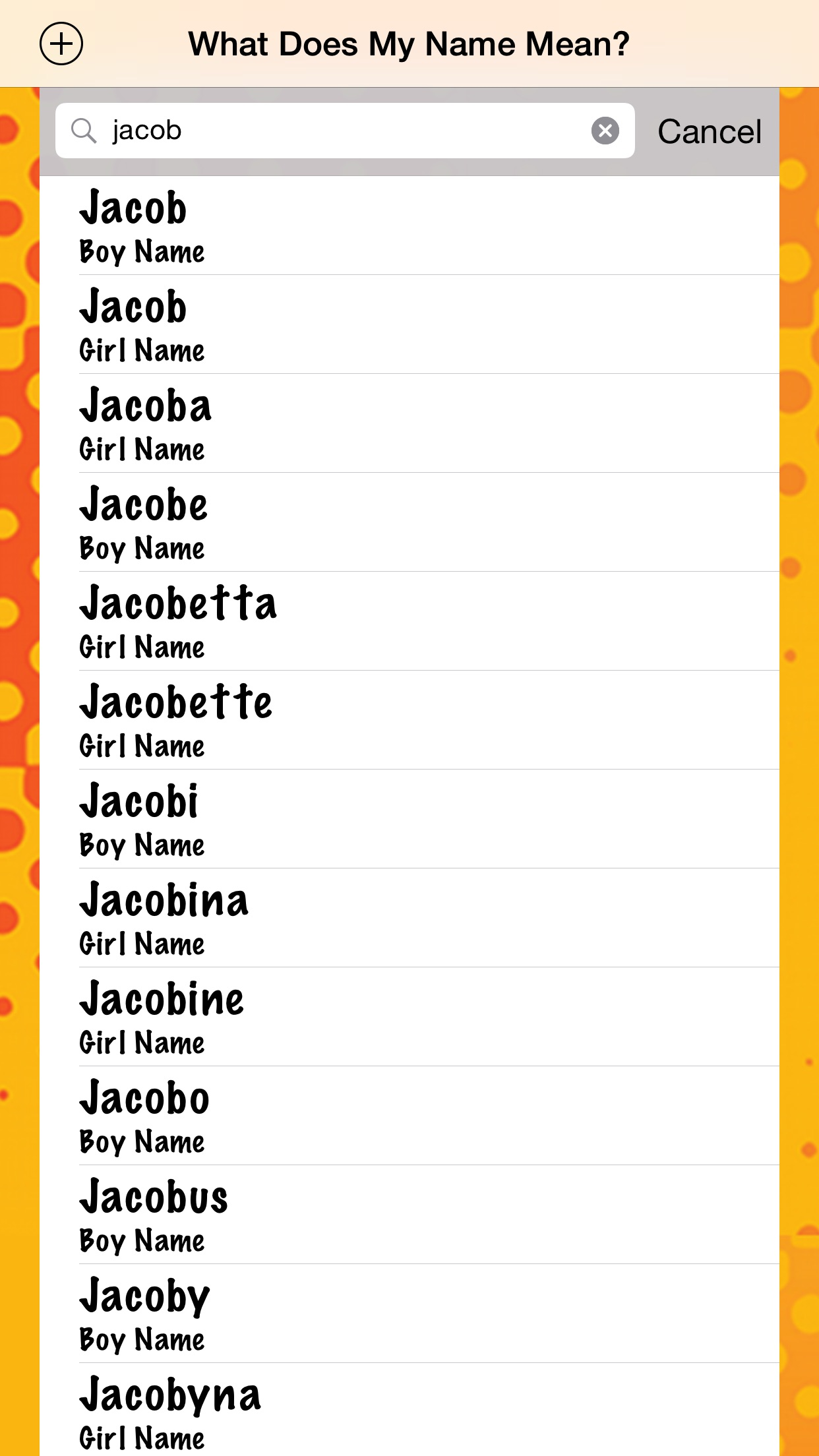 What Does My Name Mean?? Screenshot