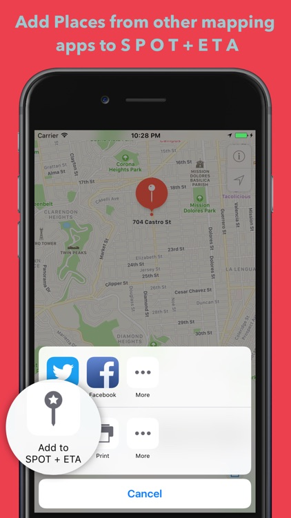 SPOT + ETA - Bookmark & get Travel Time to Places screenshot-4