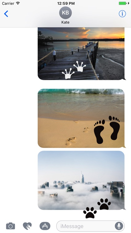 Animated Cute Footprint Stickers screenshot-0