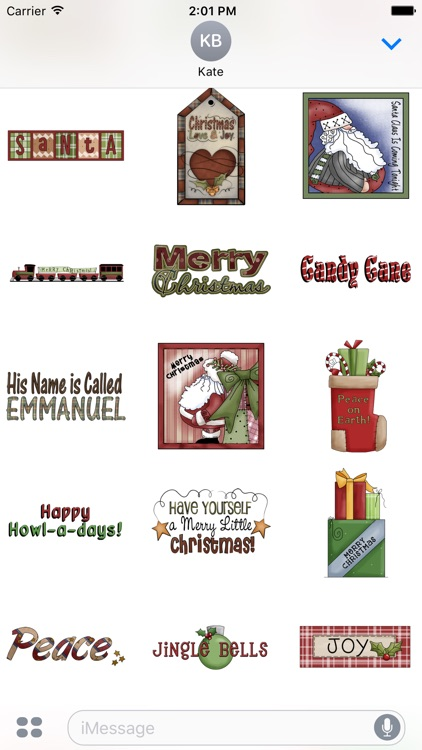 Christmas Stickers #2 for iMessage