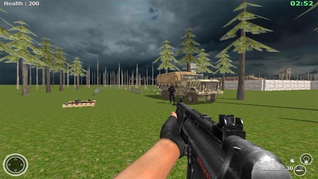 Commando Behind EnemyLines Sniper Combat Blackouts Screenshot