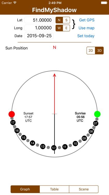 FindMyShadow - Sun shadow scene plotting tool