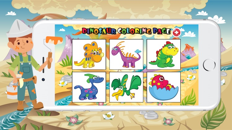 Dinosaur Coloring Book For Kids Education Games