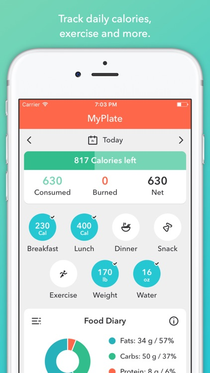 MyPlate Calorie Tracker app image