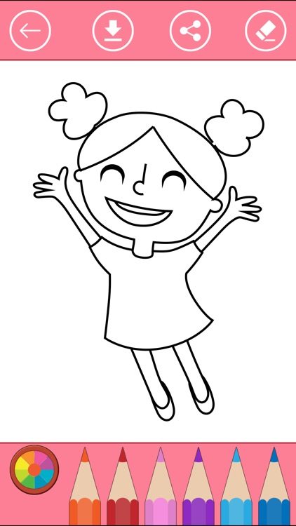 Coloring Pages For Girls Book Kids Screenshot 1