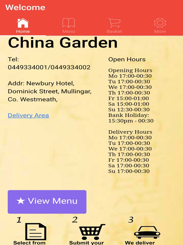 China Garden Mullingar Takeaway On The App Store