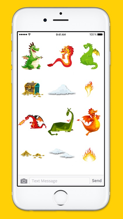 Cute and Funny Dragons and Treasure Sticker Pack screenshot-4