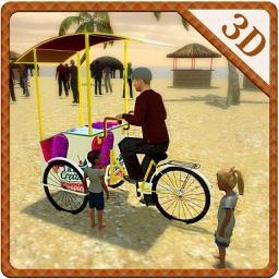 Beach Ice Cream Delivery Bike & Rider Sim Game