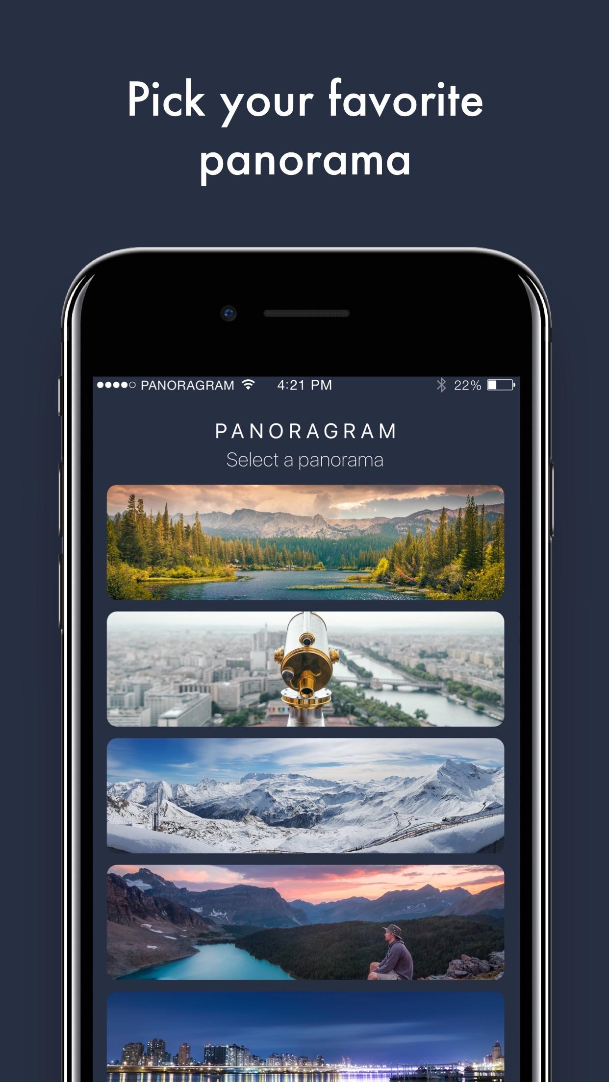 Screenshot do app Panoragram - Panoramas for Instagram
