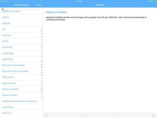 ATPL Dictionary screenshot