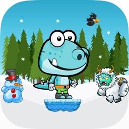 Little Dino Run - Snow Monster Adventure