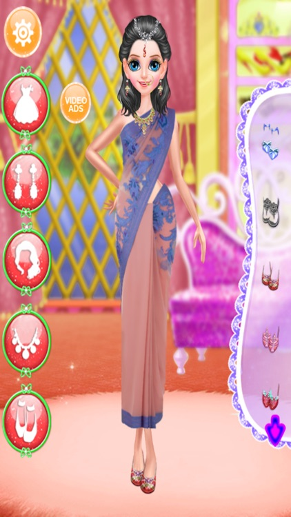 Indian Doll - Fashion Makeover Games For Girls screenshot-3