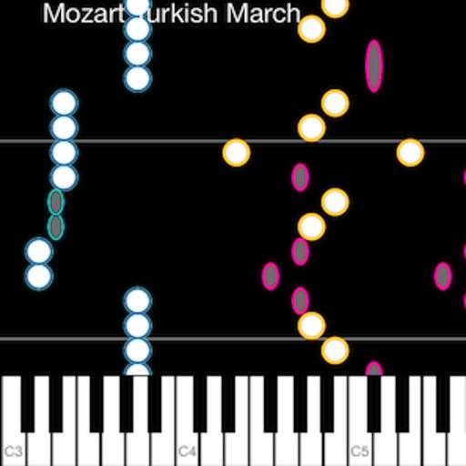 Piano Celestial - midi falling notes