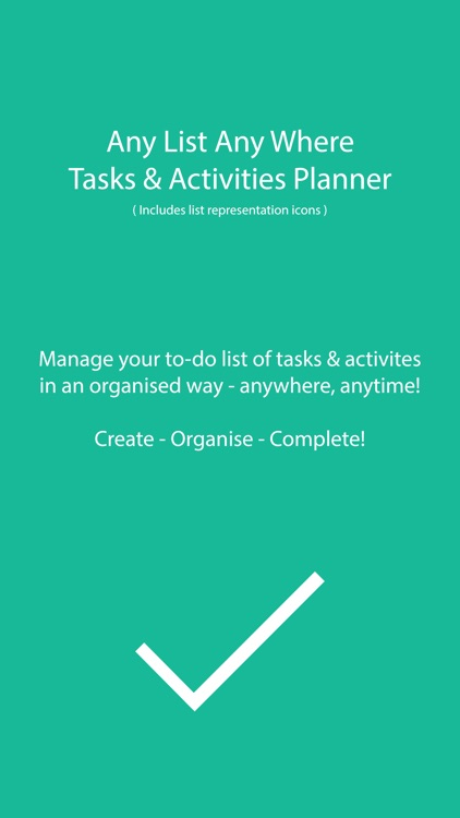 Any List AnyWhere Tasks/Activities Planner/Manager