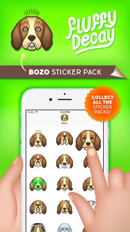 Fluffy Decay Bozo Sticker Pack