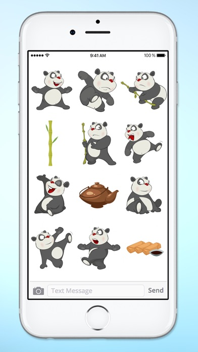 Fun Bamboo Panda Sticker Pack