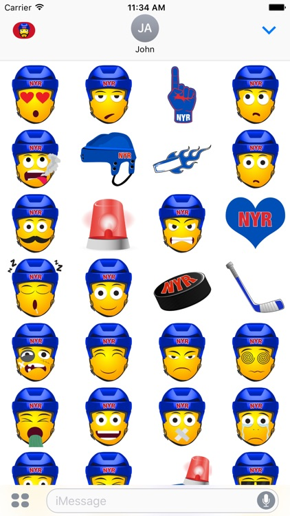 NYR Hockey Stickers & Emojis screenshot-3