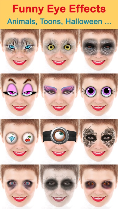 Crazy bug eyes changer booth: funny eye makeup on the app store.