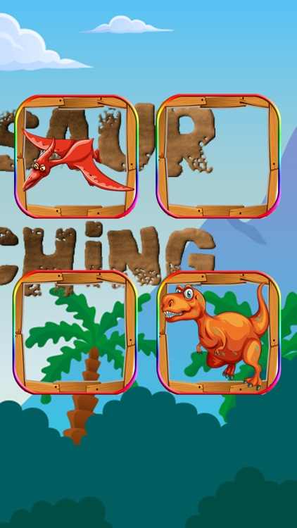 Dinosaur Animals Matching Puzzles for Pre-K Match