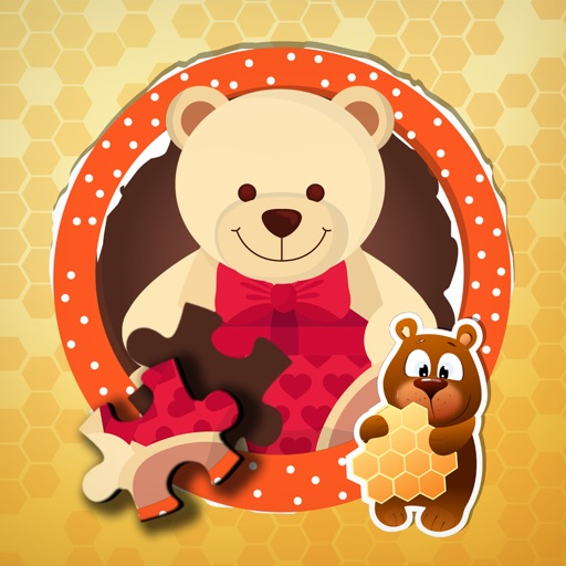 Touch the Puzzle - Lovely Honey Bear Jigsaw Game