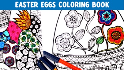 Easter Eggs Coloring Book! Draw, Color & Paint