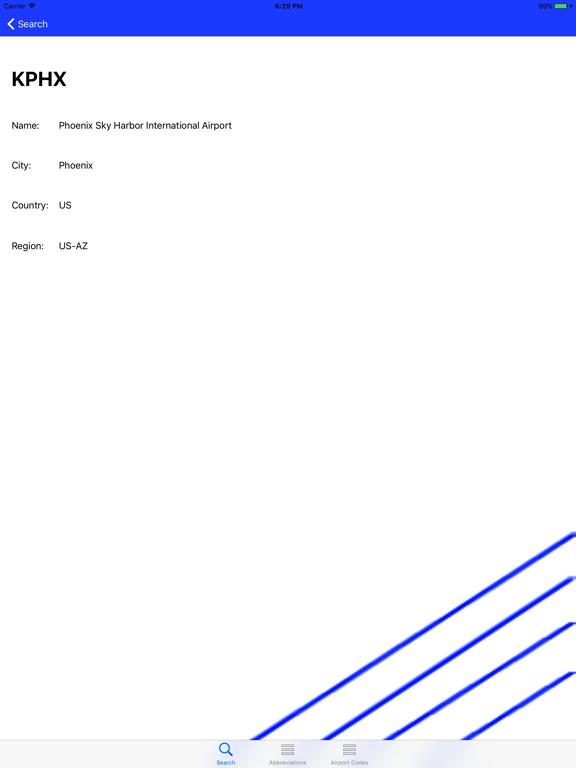 Aviation Abbreviation Dictionary screenshot