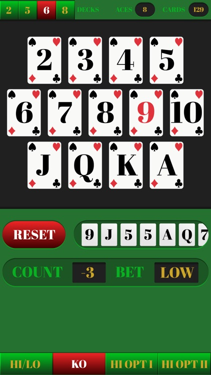 Blackjack Tracker - Easy card counting