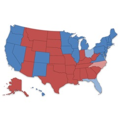 Presidential Election Electoral College Maps On The App Store - Us-presidential-elections-2016-electoral-map