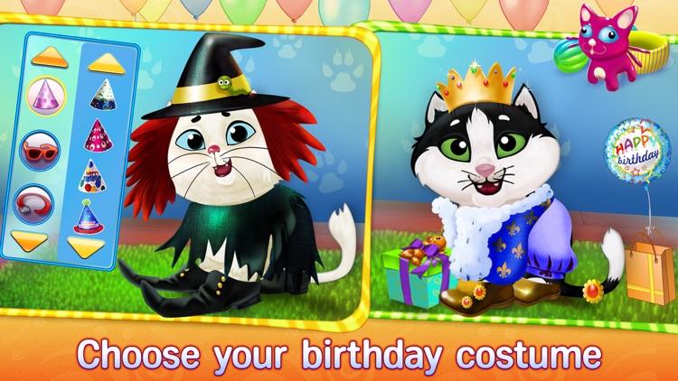 Kitty Cat Birthday Surprise: Care, Dress Up & Play screenshot-3