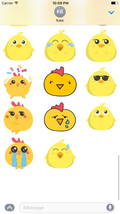 Cute Chickens - Fc Sticker screenshot-1