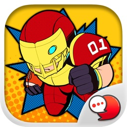American football Stickers & Keyboard By ChatStick