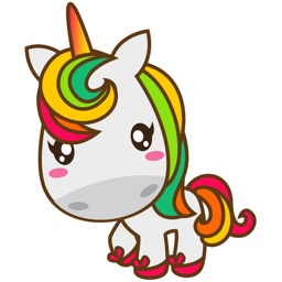 Magi sweet and cute unicorn for iMessage Sticker