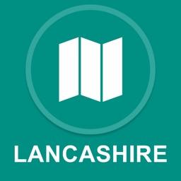 Lancashire, UK : Offline GPS Navigation