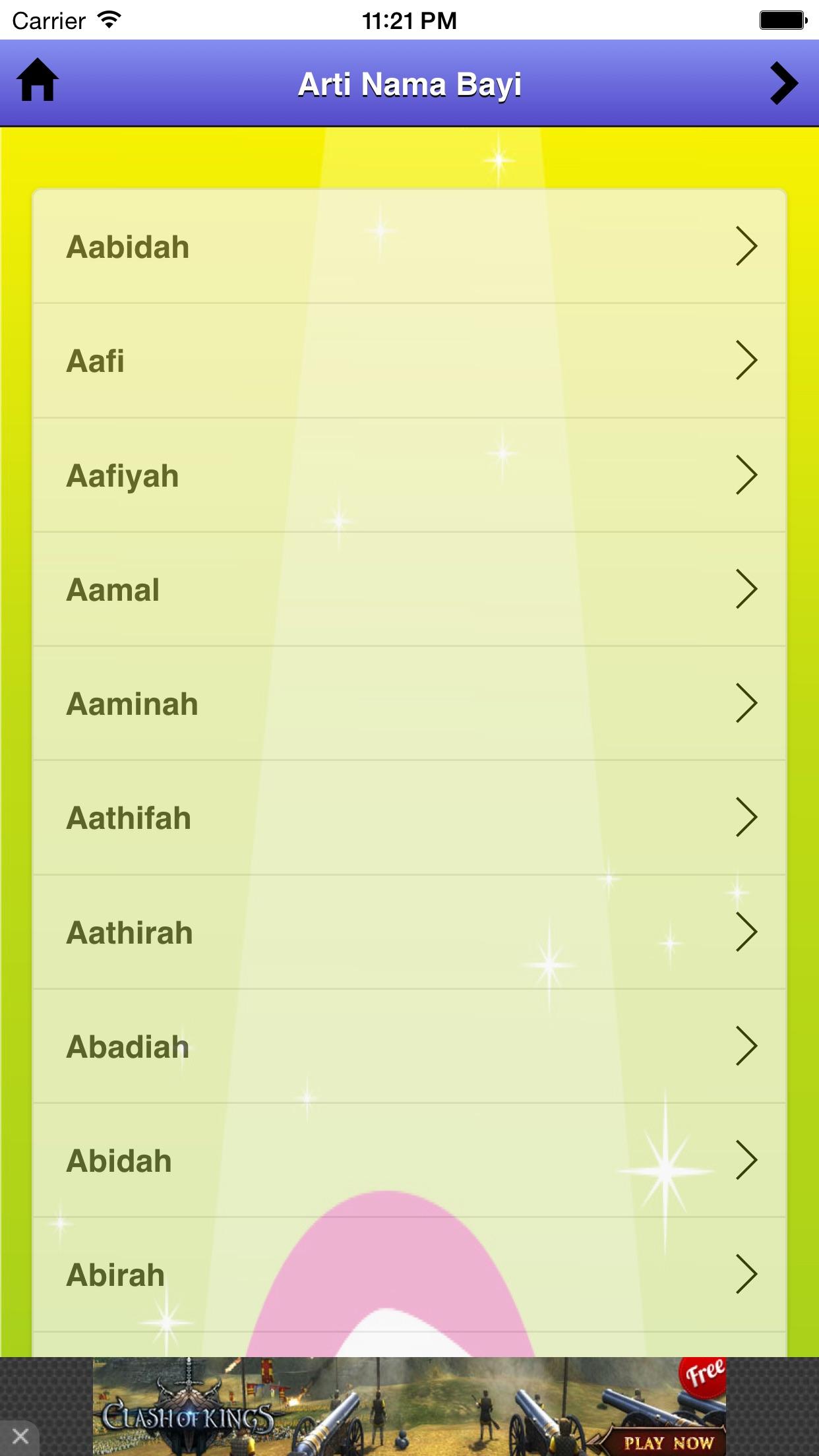Arti Nama Bayi Screenshot