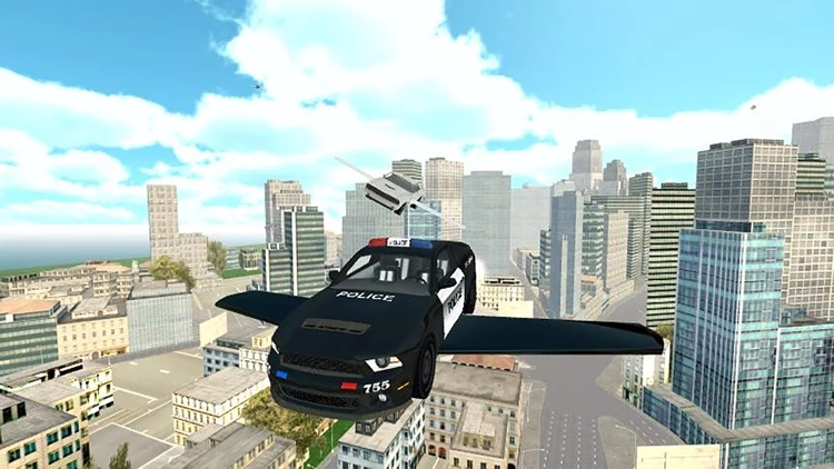 Fly-ing Police Car Sim-ulator 3D screenshot-3