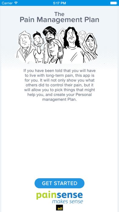 Pain Management Plan screenshot one