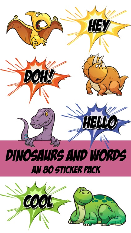 Dinosaur and Word Sticker Pack