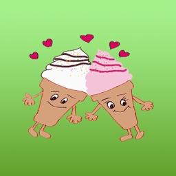 The Happy Ice Cream Stickers