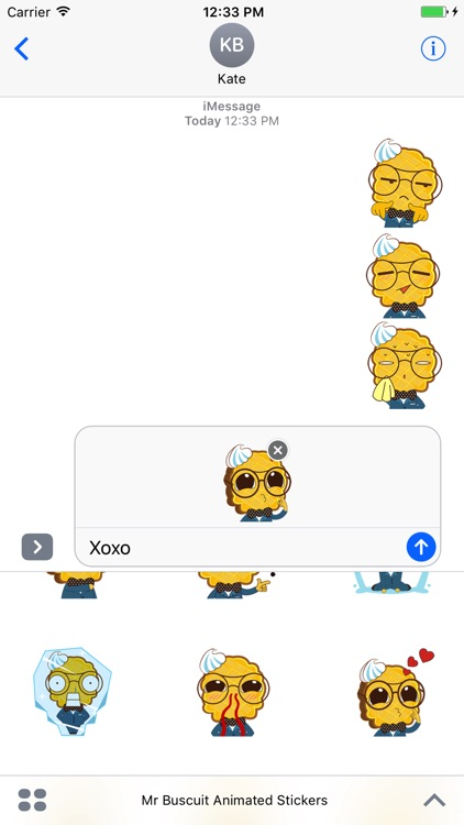 Mr. Biscuit Animated Stickers For iMessage