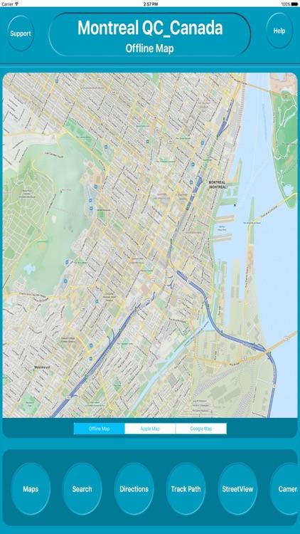 Montreal QC Canada Offline City Maps Navigation