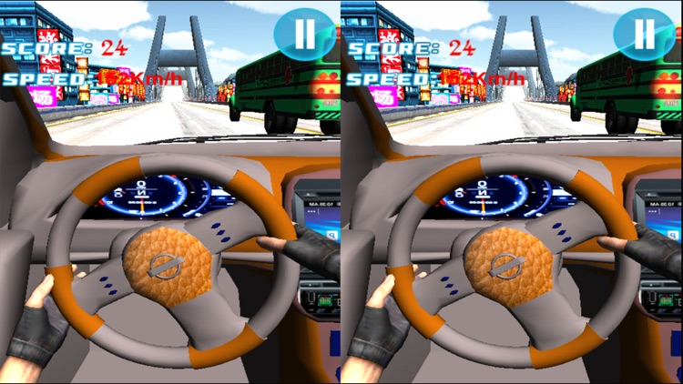VR Race in Car : A Virtual Reality Racing Sim screenshot-3