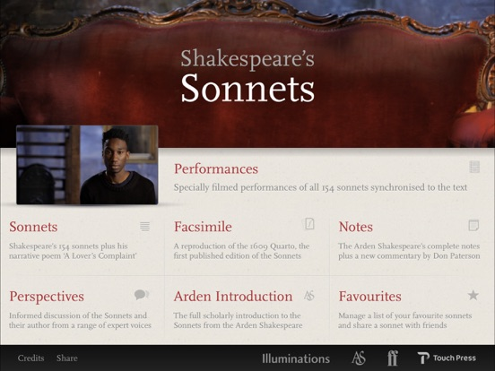 Shakespeare's Sonnets Screenshot 0